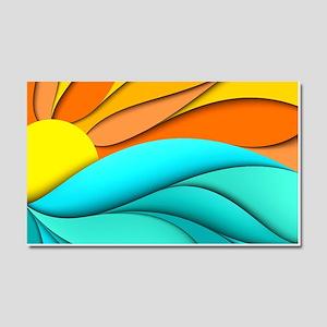 Abstract Ocean Sunset Car Magnet 20 x 12