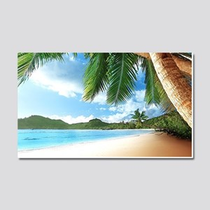 Beautiful Beach Car Magnet 20 x 12