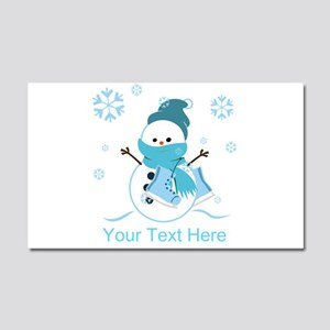 Cute Personalized Snowman Car Magnet 20 x 12
