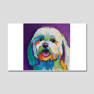Dash the Pop Art Dog Car Magnet 20 x 12