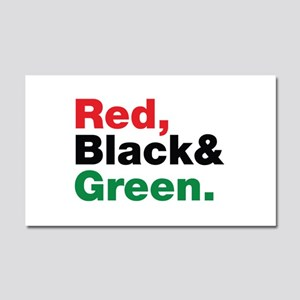 Red, Black and Green. Car Magnet 20 x 12