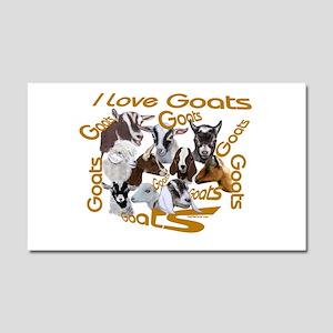 I love Goat Breeds Car Magnet 12 x 20