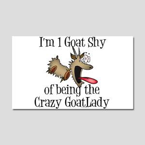 Crazy Goat Lady Car Magnet 12 x 20