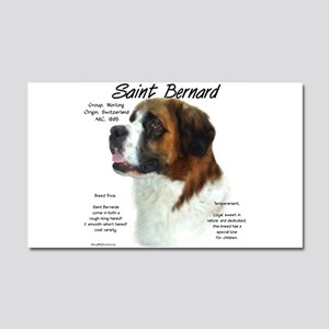Saint Bernard (Rough) Car Magnet 20 x 12