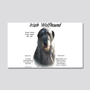 Irish Wolfhound (grey) Car Magnet 20 x 12