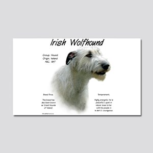 Irish Wolfhound (white) Car Magnet 20 x 12