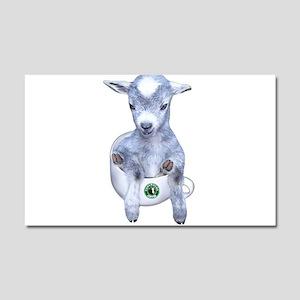TeaCup Goat Car Magnet 12 x 20