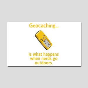 Geocaching Nerds Car Magnet 20 x 12