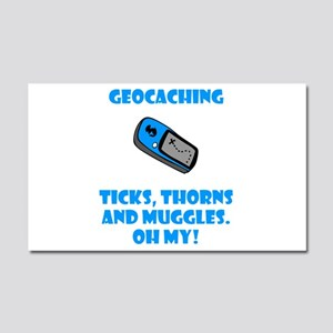 Geocaching Ticks Thorns Muggl Car Magnet 20 x 12