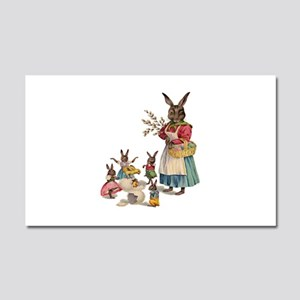 Vintage Easter Bunny with Spring Flowers Car Magne