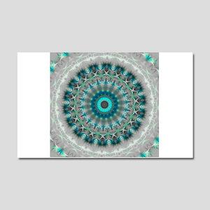 Blue Earth Mandala Car Magnet 20 x 12