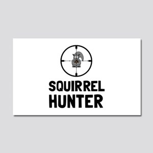 Squirrel Hunter Car Magnet 20 x 12