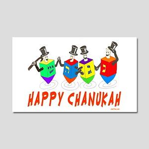 Happy Hanukkah Dancing Dreidels Car Magnet 20 x 12