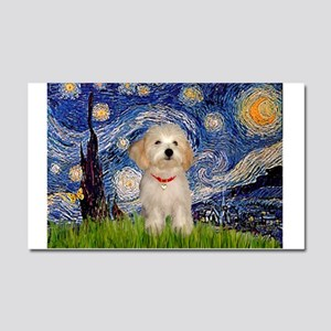 Starry Night Havanese Pup Car Magnet 20 x 12