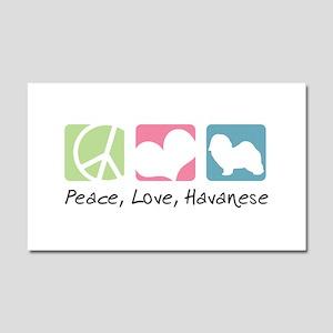 Peace, Love, Havanese Car Magnet 20 x 12
