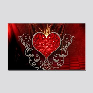 Wonderful heart with wings Car Magnet 20 x 12
