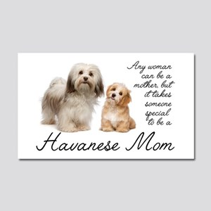 Havanese Mom Car Magnet 20 x 12