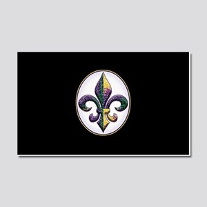 Fleur de lis Mardi Gras beads Car Magnet 20 x 12