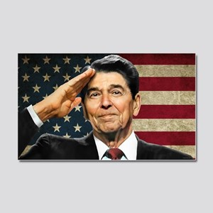 Reagan Flag Car Magnet 20 x 12