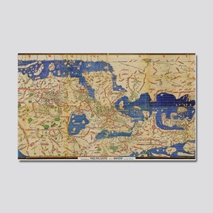 Al-Idrisi's world map, 1154 Car Magnet 20 x 12
