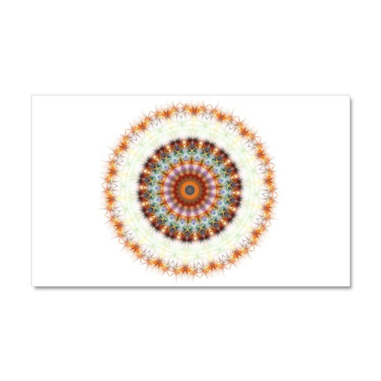 Detailed Orange Earth Mandala