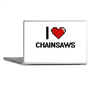 I love Chainsaws Digitial Design Laptop Skins
