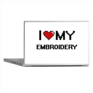 I Love My Embroidery Digital Retro De Laptop Skins