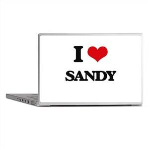 I Love Sandy Laptop Skins