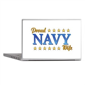 Proud Navy Wife Laptop Skins