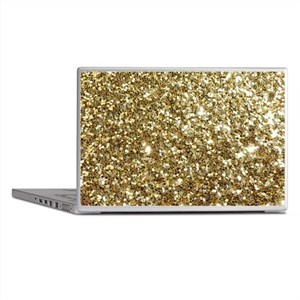 Realistic Gold Sparkle Glitter Laptop Skins