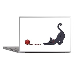 Cat and Yarn Laptop Skins