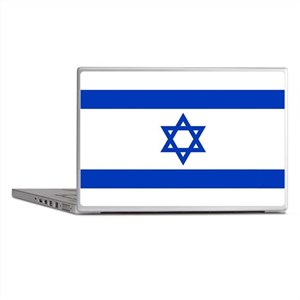 Flag of Israel, the Star of David Laptop Skins