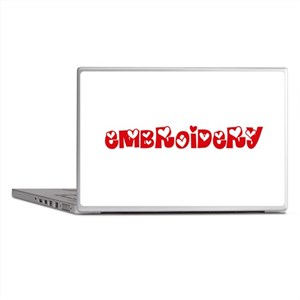 Embroidery Heart Design Laptop Skins