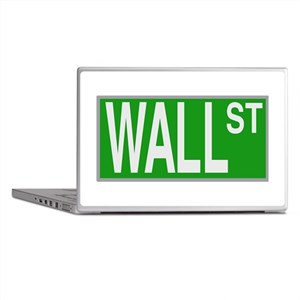 Wall Street Sign Laptop Skins