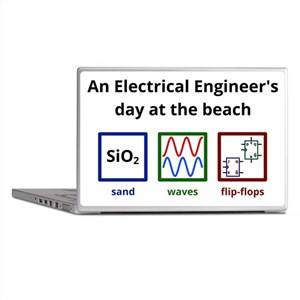 An Electrical Engineers day at the beach Laptop Sk
