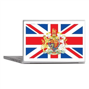 British Flag with Royal Crest Laptop Skins