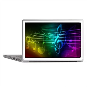 color of music_template_submit Laptop Skins