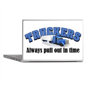 Truckers Pull Out in Time Laptop Skins