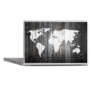 World Map Art Laptop Skins
