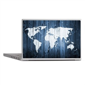 World Map Design Laptop Skins