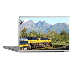 Alaska Railroad locomotive engine & m Laptop Skins