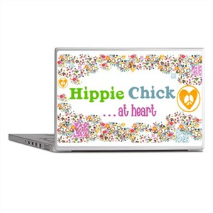 Hippie Chick at Heart Laptop Skins