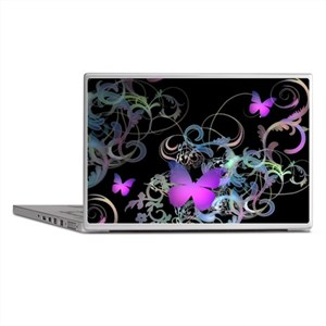 Bright Purple Butterflies Laptop Skins