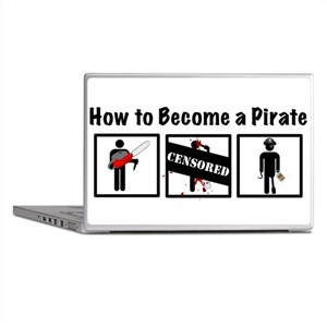 How to Become a Pirate Laptop Skins