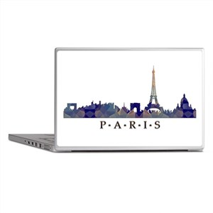 Mosaic Skyline of Paris France Laptop Skins