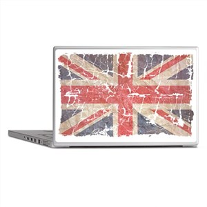 UK Flag Distressed Laptop Skins