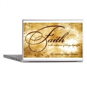 faith is gold vintage Laptop Skins