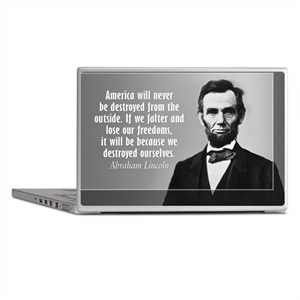 Lincoln Quote Aneruca Laptop Skins