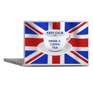 Keep Calm and Drink a Cuppa Tea Laptop Skins