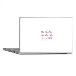Customizable Personalized Text (Fusch Laptop Skins